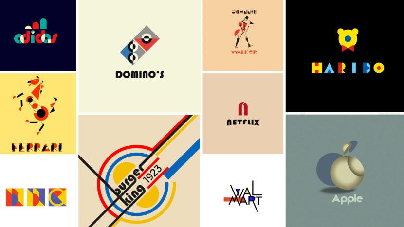 100 años de Bauhaus cómo se verían los famosos logos de hoy en estilo Bauhaus 830x467 - Marcas famosas con motivo del centenario de la Bauhaus