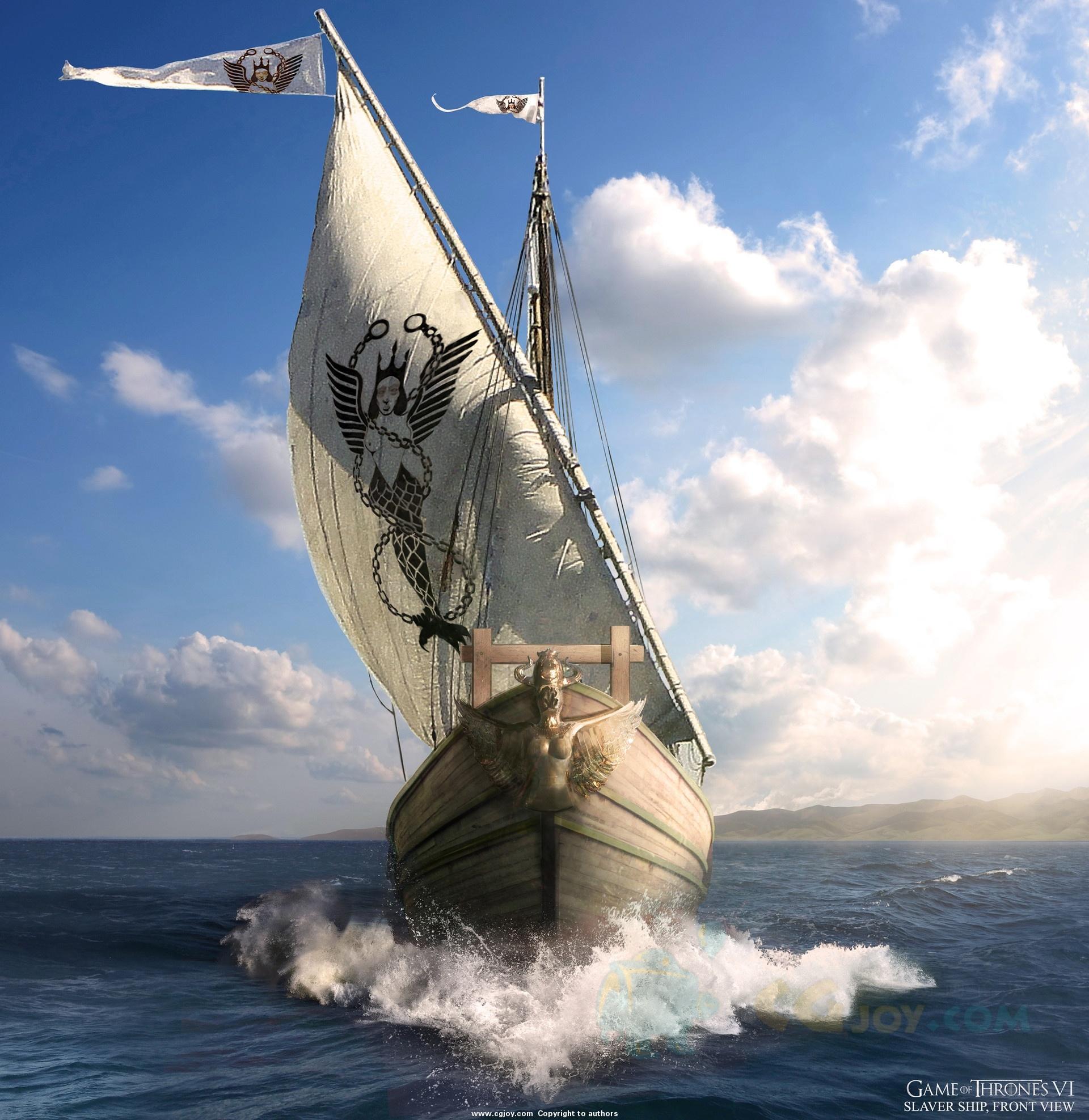 Barco de los traficantes de esclavos Temporada 6 - 30 imágenes de Concept Art de Juego de Tronos Sorprendentes