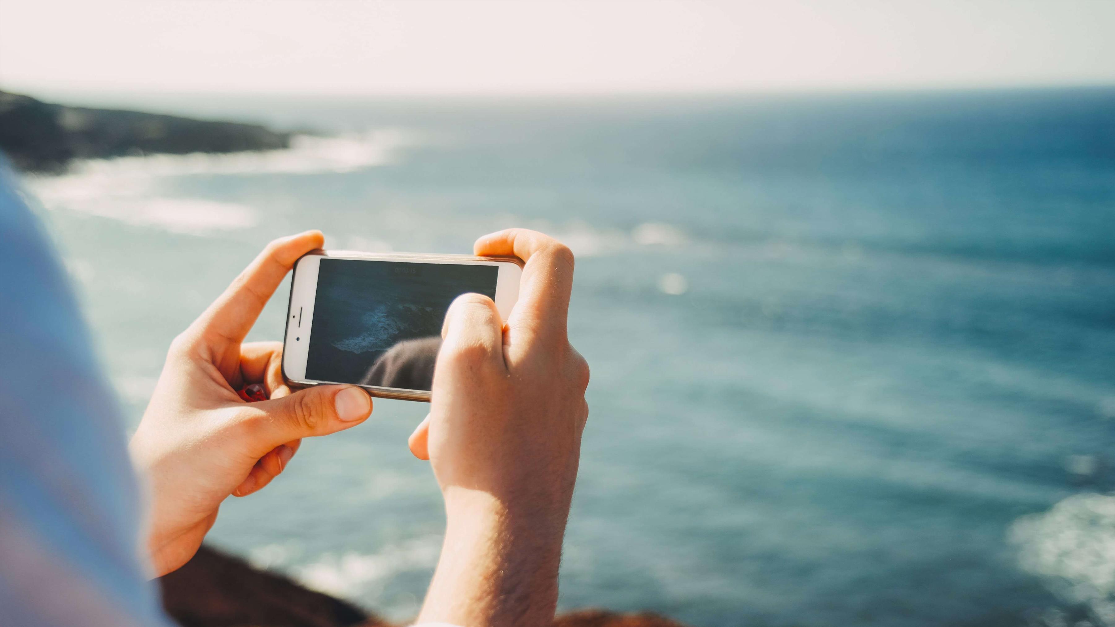 Coge el Móvil con las Dos Manos - Fotos Increíbles con tu Celular