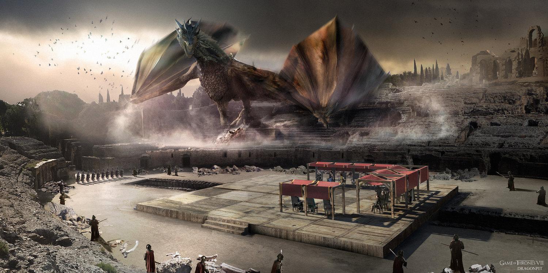 Foso de Dragón Llegada de Daenerys Temporada 7 - 30 imágenes de Concept Art de Juego de Tronos Sorprendentes