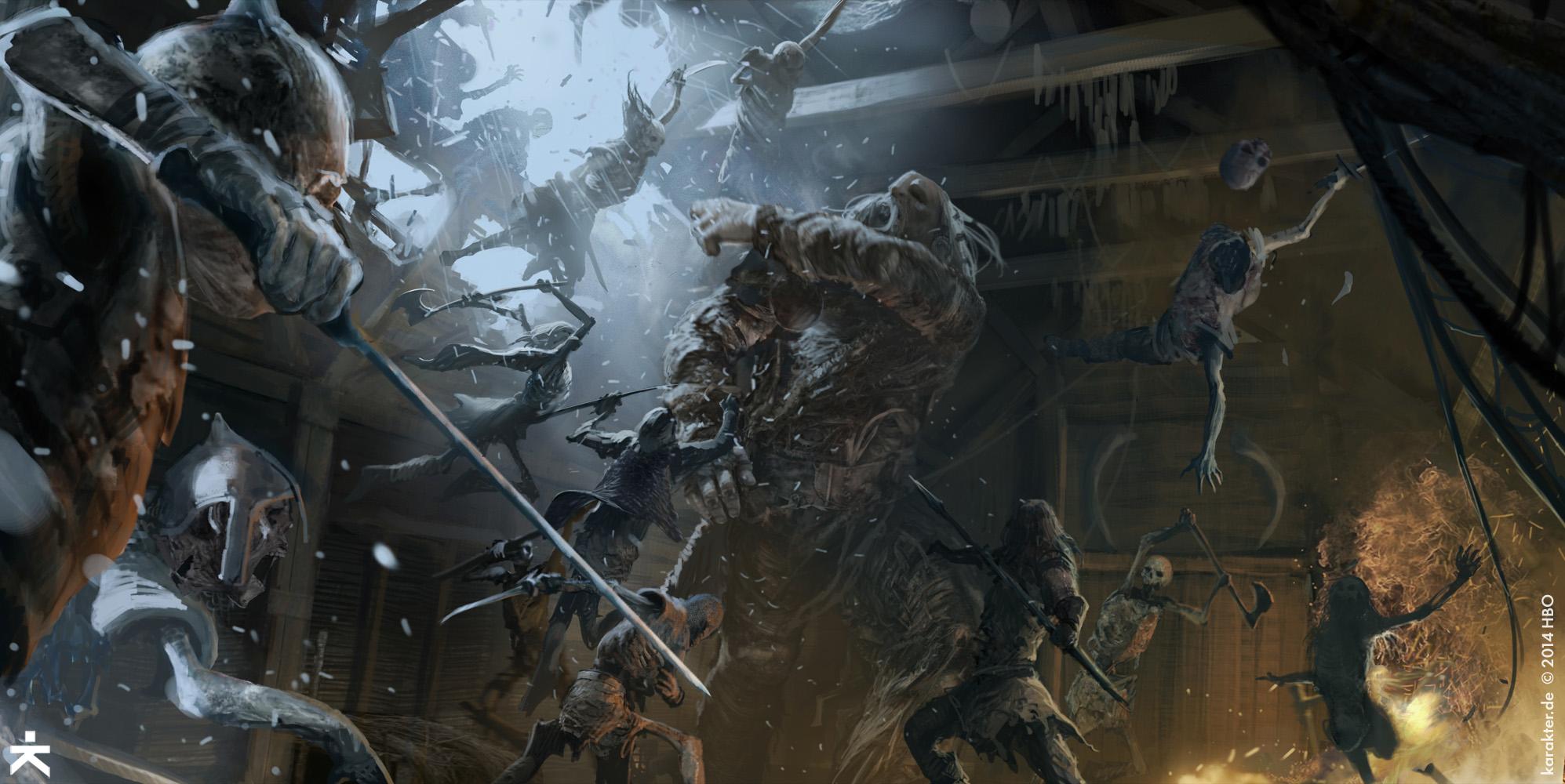 La Batalla de Casa Austera Temporada 5 - 30 imágenes de Concept Art de Juego de Tronos Sorprendentes