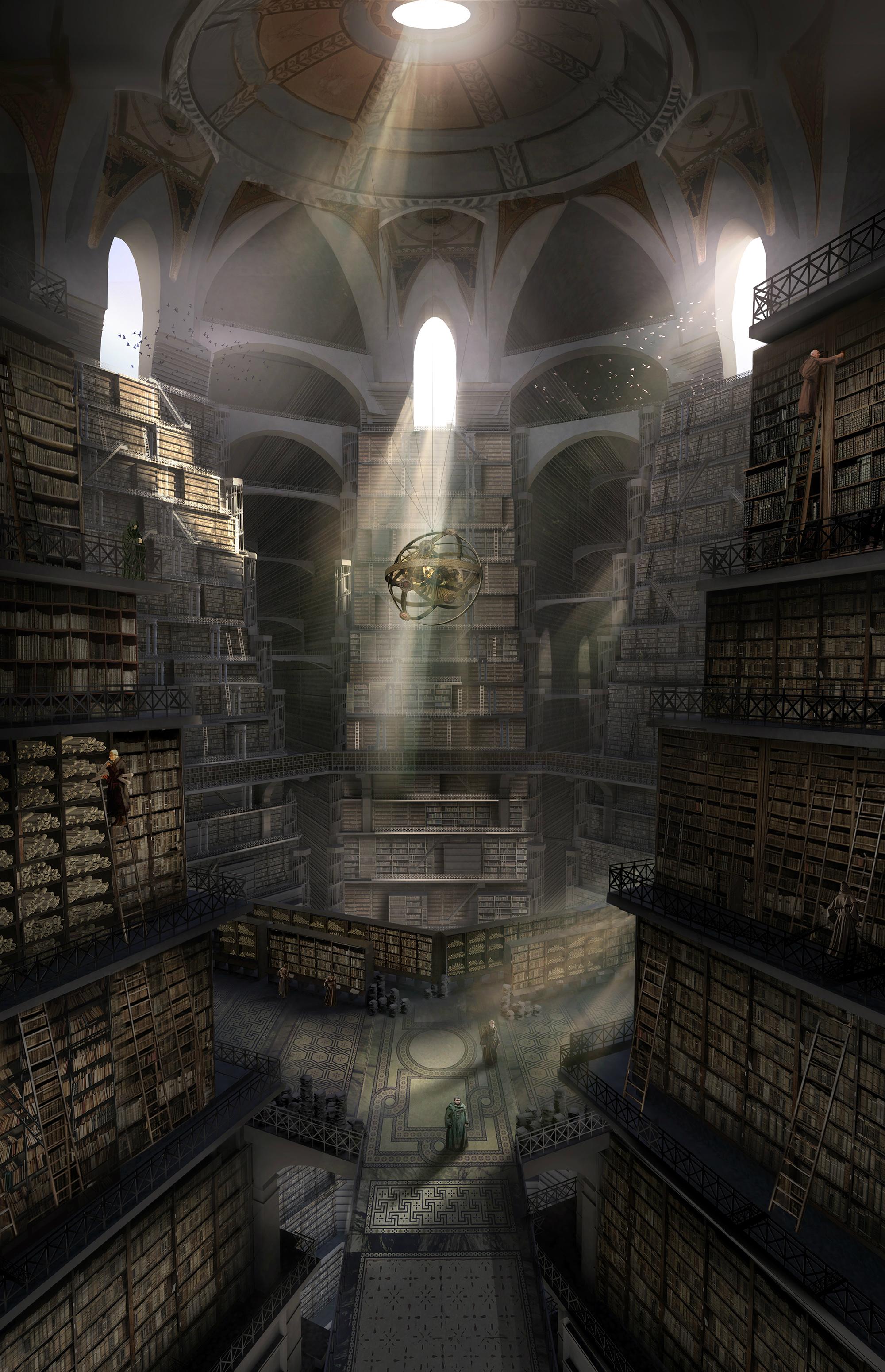 La biblioteca de la Ciudadela Temporada 6 - 30 imágenes de Concept Art de Juego de Tronos Sorprendentes