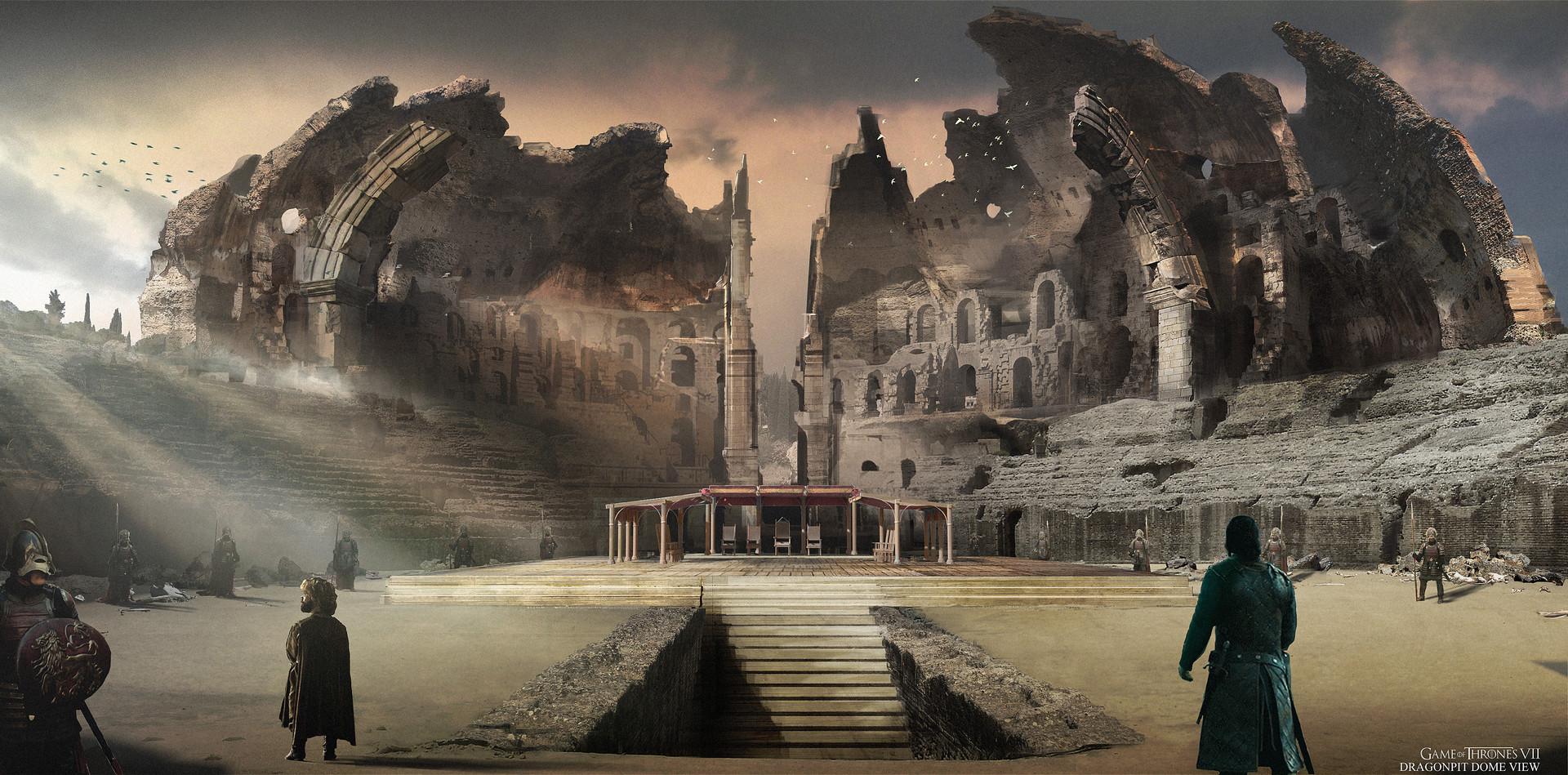 Pozo Dragón Temporada 7 - 30 imágenes de Concept Art de Juego de Tronos Sorprendentes