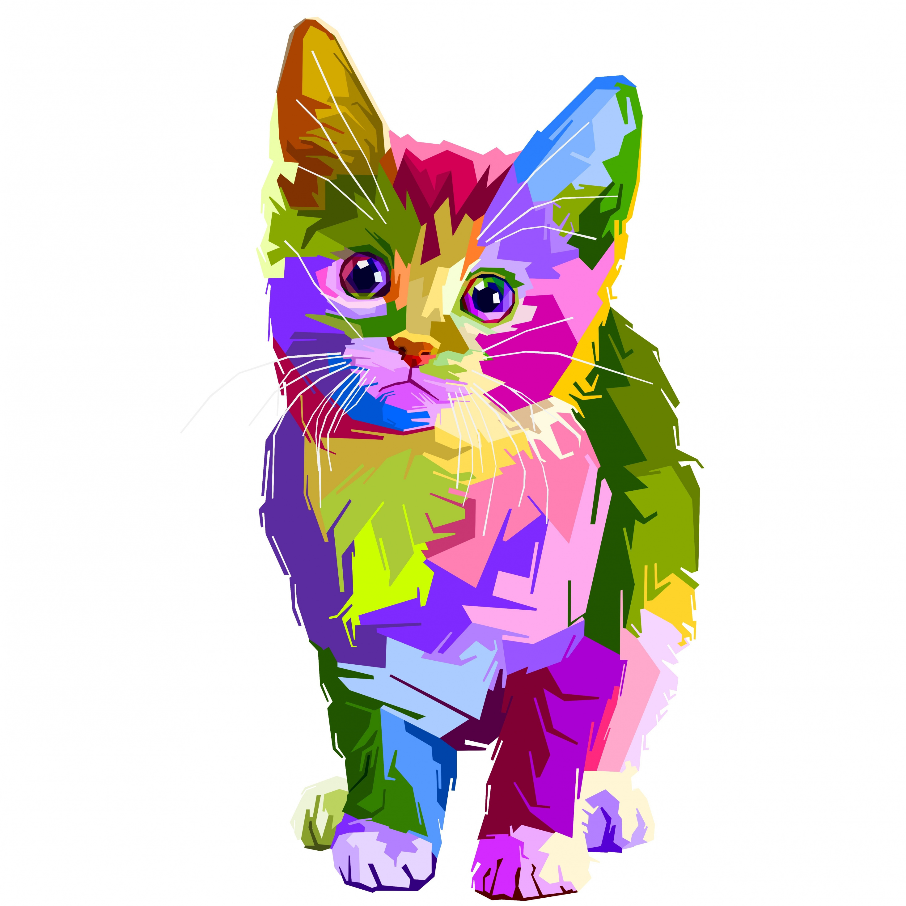 colorful kitten art copy - Tendencias Diseño Gráfico 2019