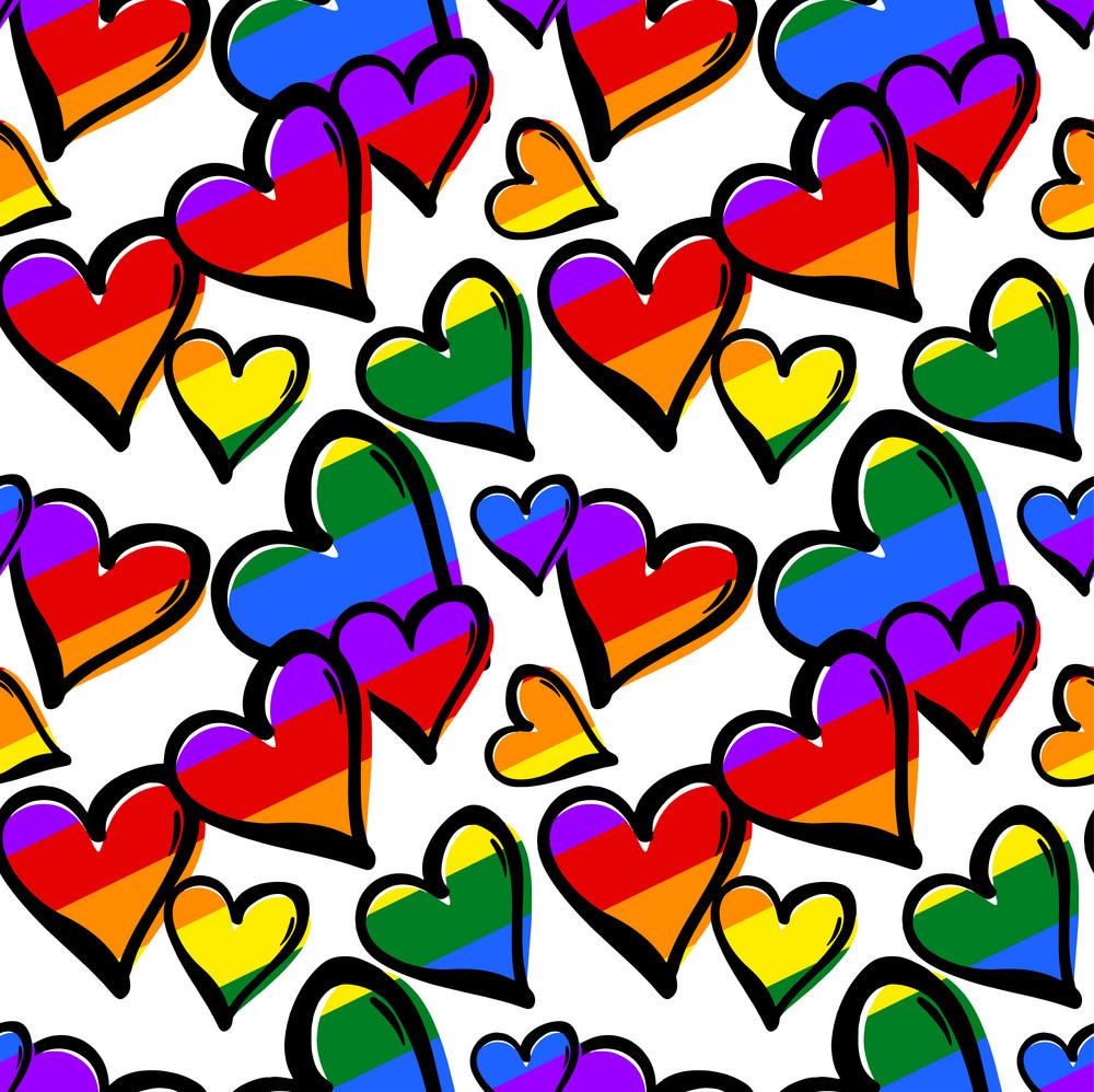 gay pride rainbow colored hearts seamless pattern vector 16151157 - Tendencias Diseño Gráfico 2019