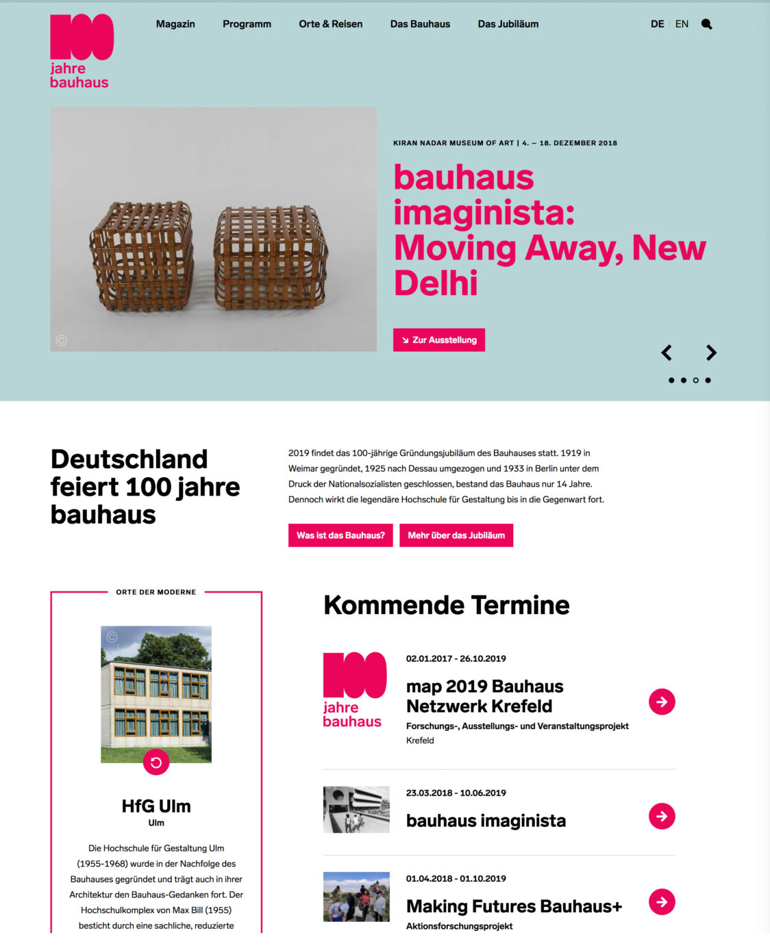 100 jahre bauhaus website 1 e1552538482589 - 100 Años de la Bauhaus