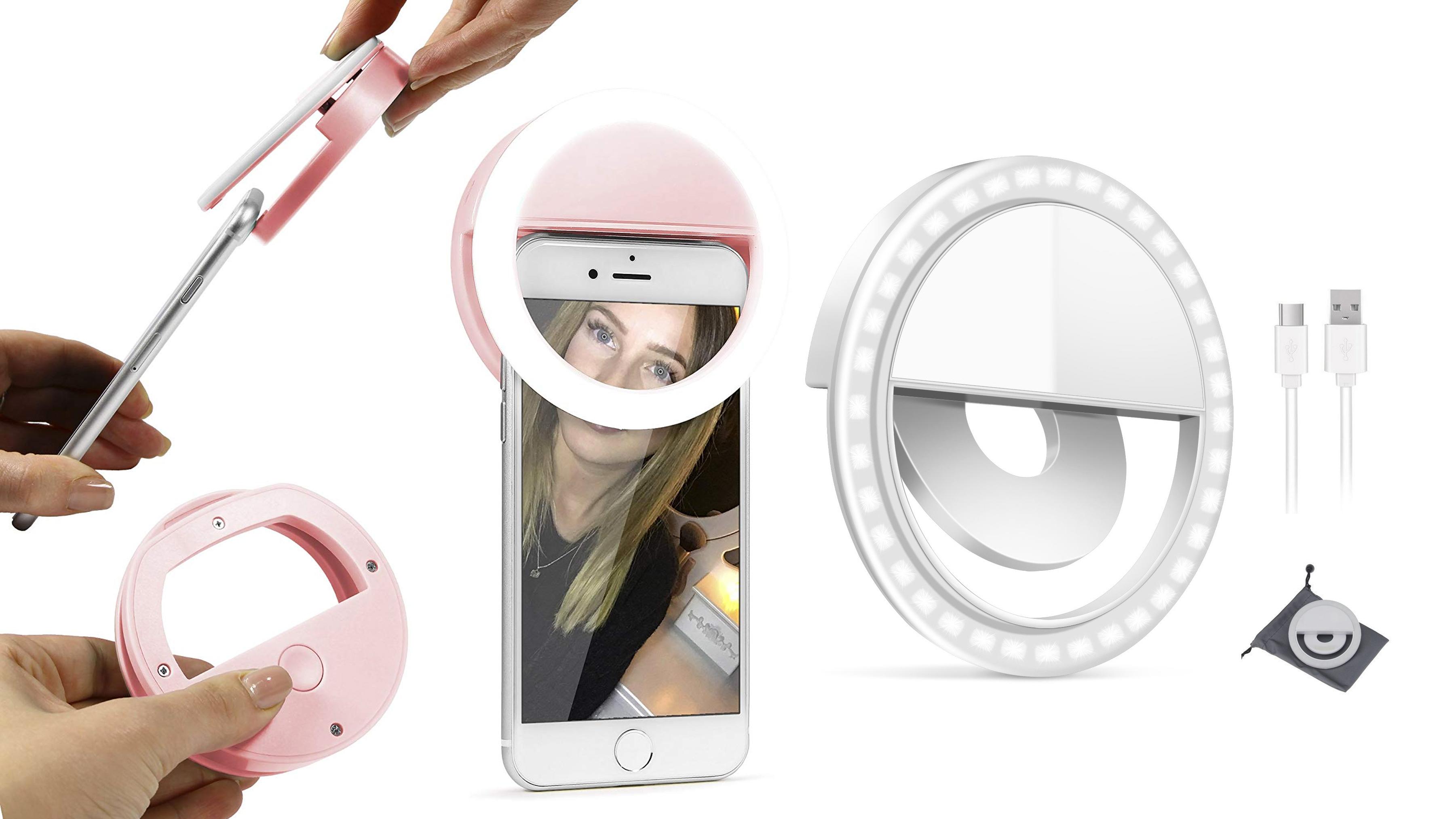 Luz LED para selfies Olliwon - Accesorios para tus Fotografías con Celular
