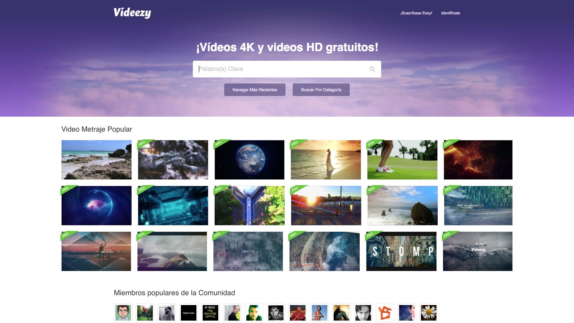 Videezy - 9 Bancos de videos gratuitos para tus proyectos