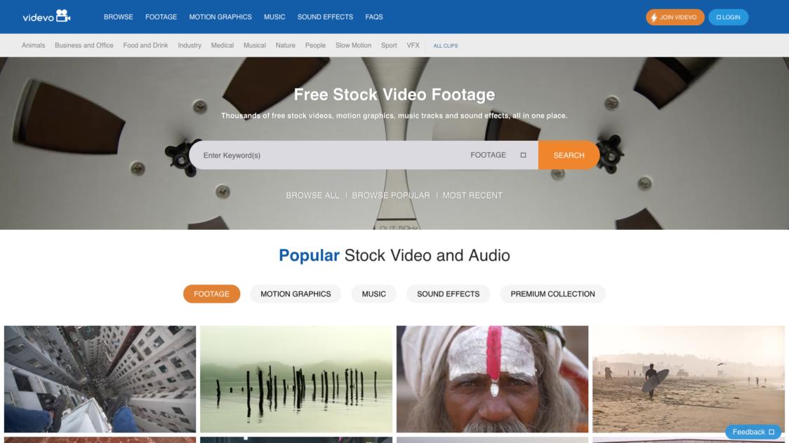 Videvo 1 e1553723584241 - 9 Bancos de videos gratuitos para tus proyectos