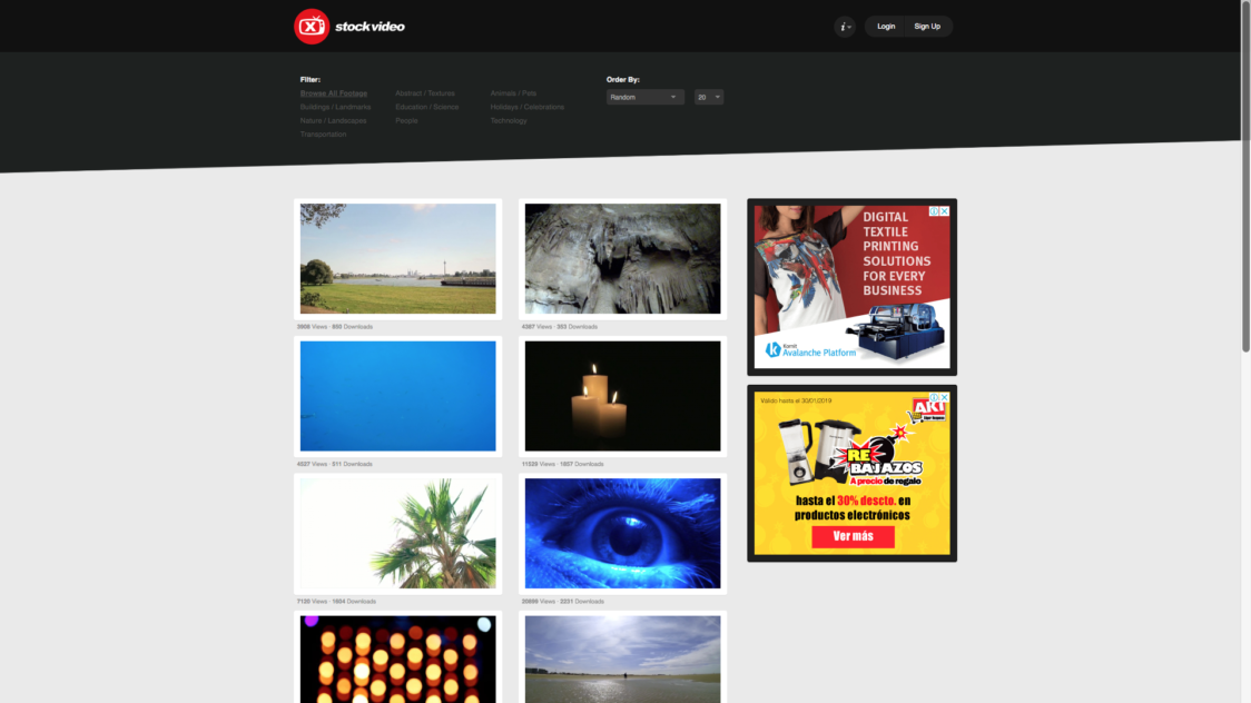 X Stock Video e1553723175592 - 9 Bancos de videos gratuitos para tus proyectos